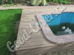 Бассейны: настил вокруг бассейна из ДПК