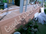 Обшивка веранды-террасы террасной доской из ДПК