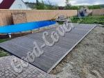 Монтаж доски Стандарт 22 мм цвет венге, площадка перед бассейном