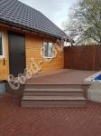 Укладка террасной доски из древесно-полимерного композита на крыльце + лестнице