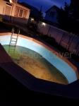 Монтаж деинга на бассейн