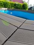 Террасная доска и ступень Good Cover смонтирована на бассейне