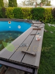 Монтаж террасной доски на бассейн